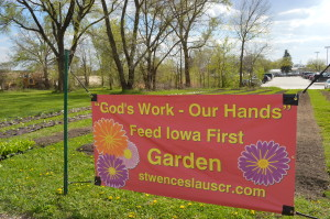 Feed Iowa First has grown from one location to 24, including this site across from St. Wenceslaus Church in Cedar Rapids. (photo/Cindy Hadish)