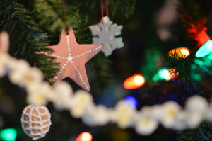 Handmade ornaments decorate the Christmas tree at the National Czech & Slovak Museum & Library. (photo/Cindy Hadish)