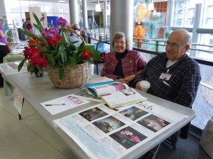 The Eastern Iowa Orchid Society' was among the organizations with informational booths at the Winter Gardening Fair at Kirkwood Community College. The venue will change in 2016. (photo/Cindy Hadish)