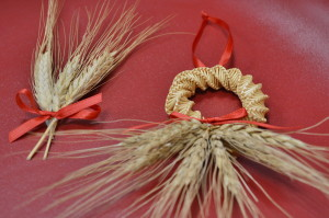 Ornaments often were made from readily available materials, such as straw. (photo/Cindy Hadish)