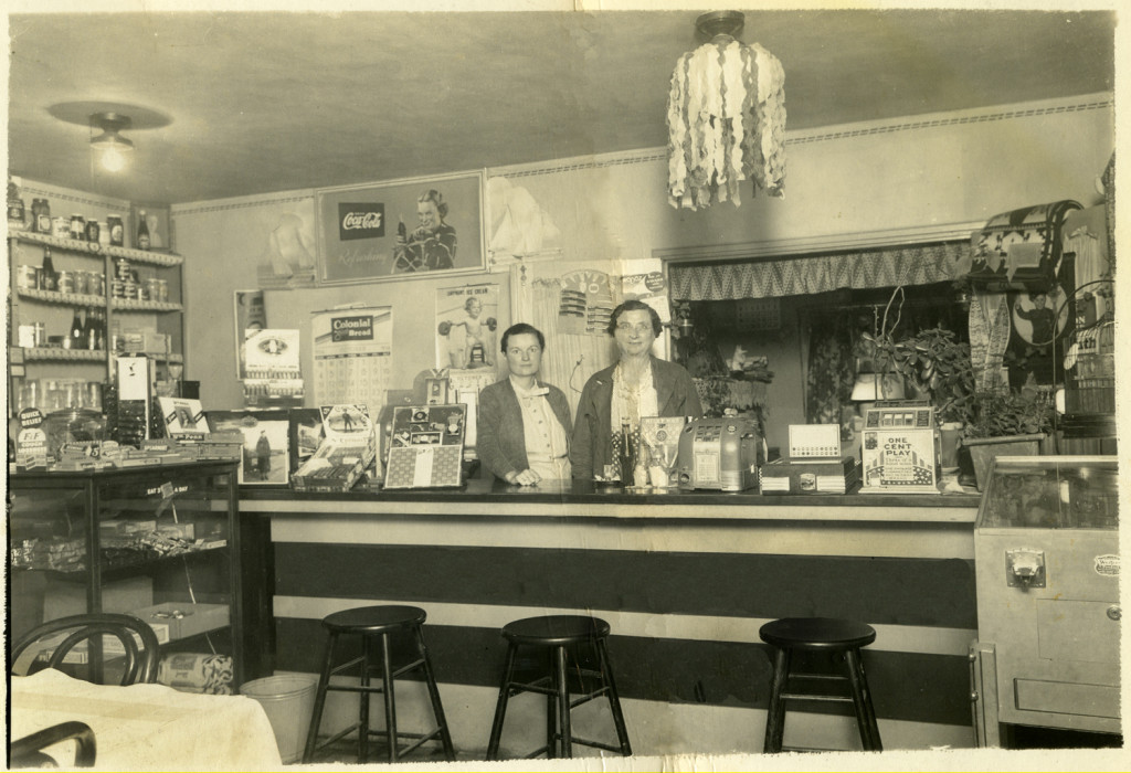 This photo shows the interior of the Youngville Cafe, as it looked in 1936. The building is on the National Register of Historic Places. (photo: Wheeler Family Archives)