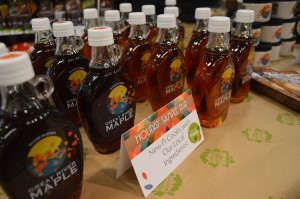 Great River Maple Syrup is displayed at New Pioneer Food Co-op in Cedar Rapids, Iowa. (photo/Cindy Hadish)
