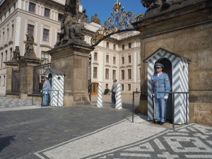 The changing of the guard happens hourly at the Prague Castle in the Czech Republic. (photo/Cindy Hadish)
