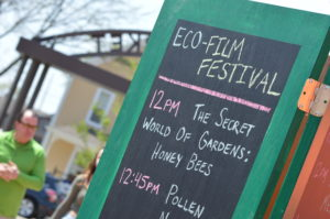 Documentaries shown during EcoFest included films on bees and birds. (photo/Cindy Hadish)