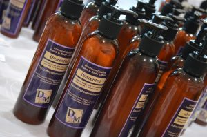 Goat's milk lotion is one of the popular products sold by Daisy May Essentials. (photo/Cindy Hadish)