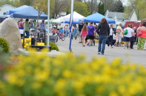 Hiawatha kicked off the farmers market season in April. More markets are opening for the season this month. (photo/Cindy Hadish)
