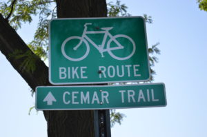 The CEMAR Trail will eventually connect downtown Cedar Rapids and downtown Marion. (photo/Cindy Hadish)
