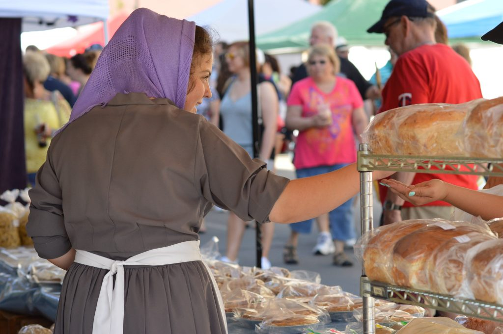 Baked goods were among the items sold at the 2016 kickoff Downtown Farmers Market. (photo/Cindy Hadish)