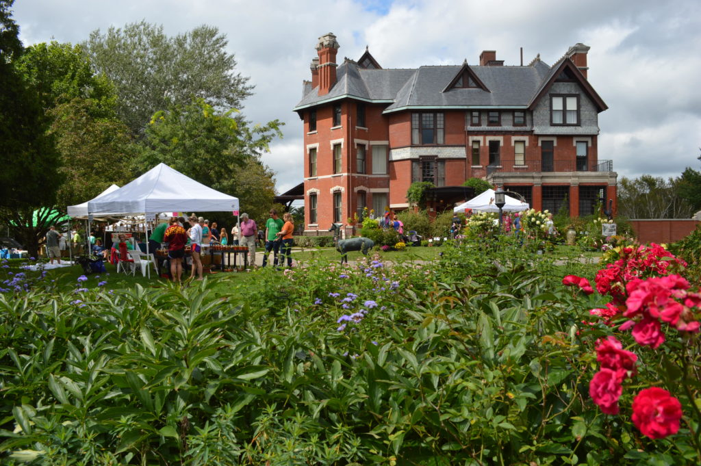 The formal gardens at Brucemore are seen during the Brucemore Garden & Art Show on Saturday, Aug. 27, 2016. (photo/Cindy Hadish)