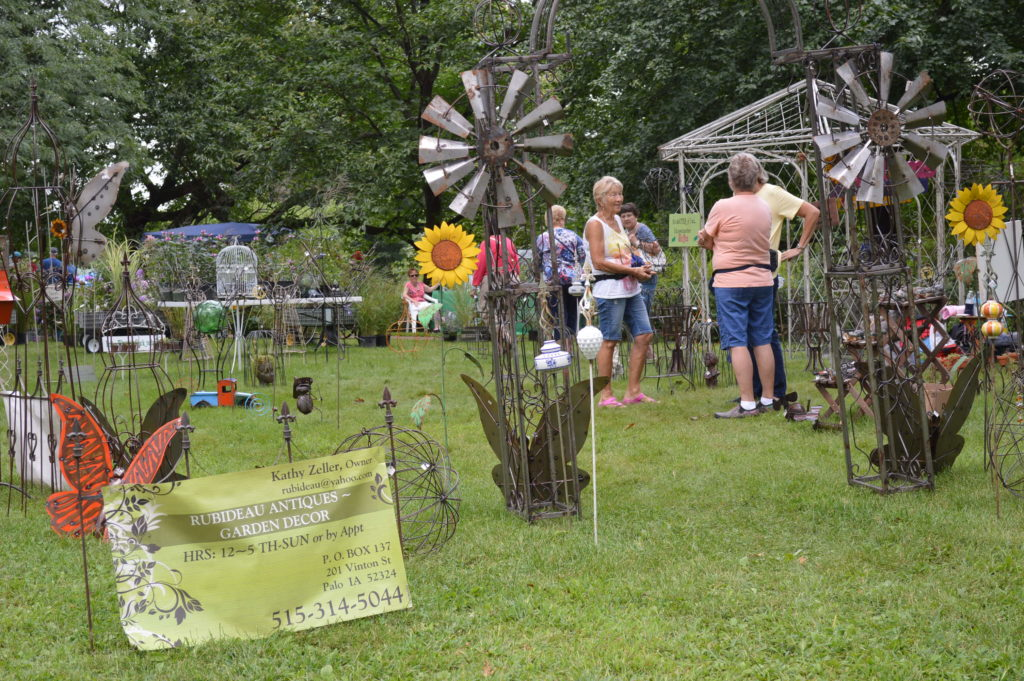 Rubideau Antiques sold a variety of garden art during the Brucemore Garden & Art Show. (photo/Cindy Hadish)