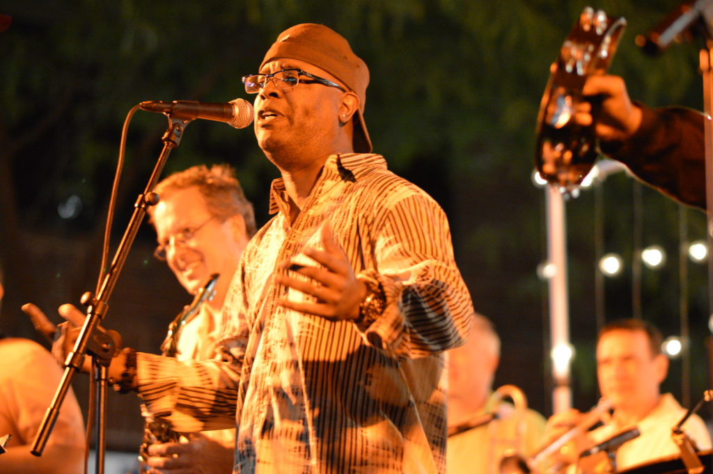 Funk Stop performs on the main stage during Market After Dark in downtown Cedar Rapids. (photo/Cindy Hadish)