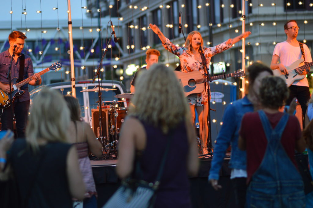 Hailey Whitters performs on the main stage during Market After Dark. (photo/Cindy Hadish)