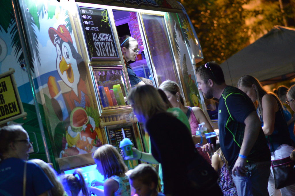 Kona Ice was a popular stop for the younger crowd at Market After Dark. (photo/Cindy Hadish)