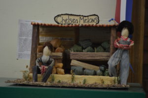 This vignette portrays a Chelsea Melon stand in miniature and was a blue-ribbon winner at the Iowa State Fair. (photo/Cindy Hadish)