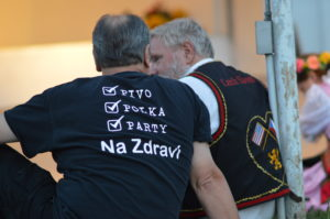 Many festival attendees wore kroje or t-shirts to show their Czech heritage. (photo/Cindy Hadish)