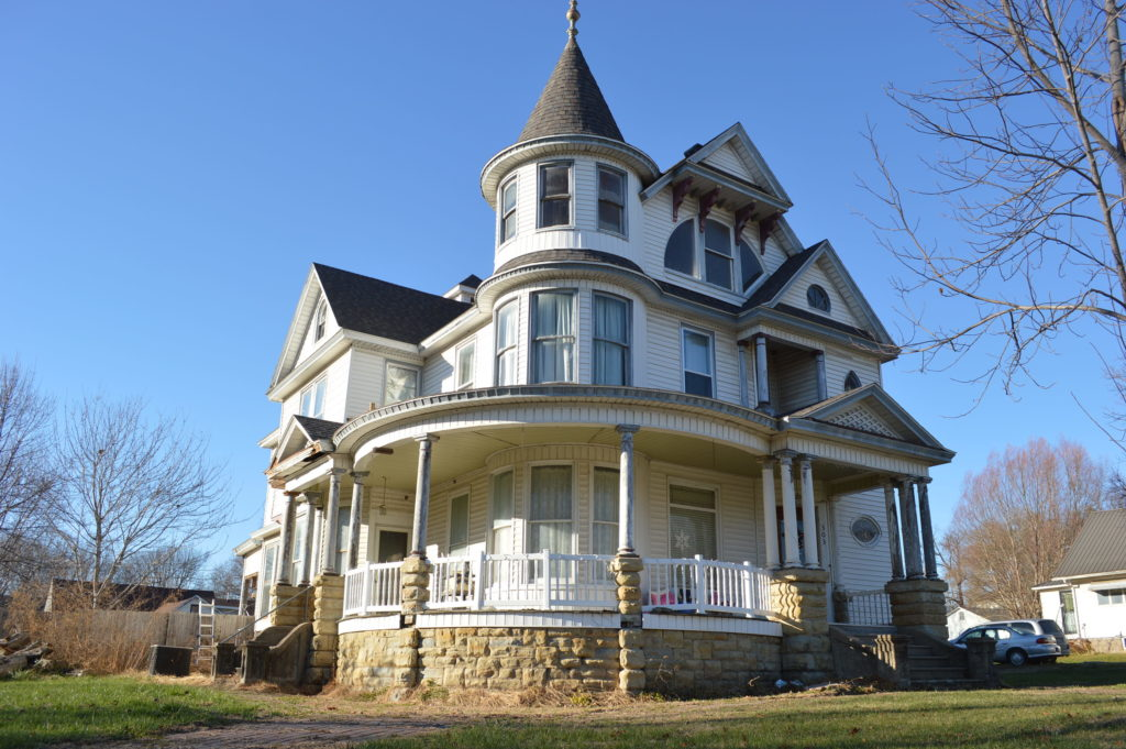This home on Washington Street in Bonaparte, Iowa, was listed for sale as of December 2016. (photo/Cindy Hadish)